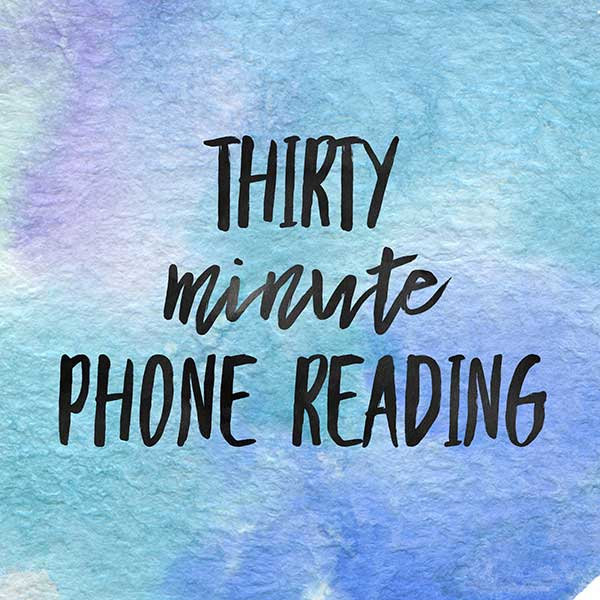 Thirty Minute Phone Reading with Carolyn Rabbitts